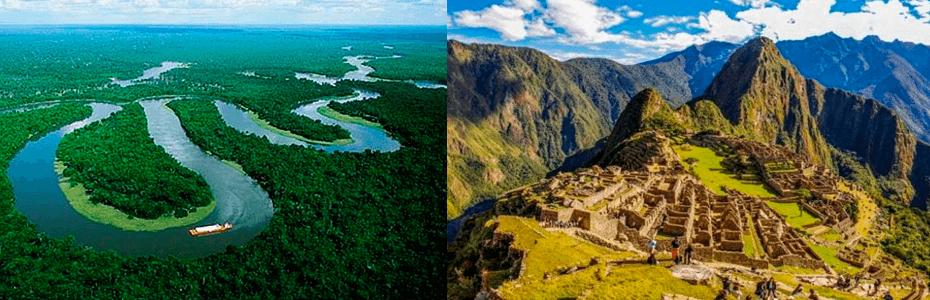 Machupicchu y Amazonia